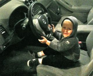 "Noah ""Driving"" Pappy's Car"