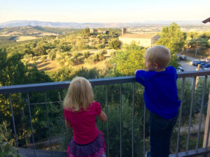 Kids viewing Umbria