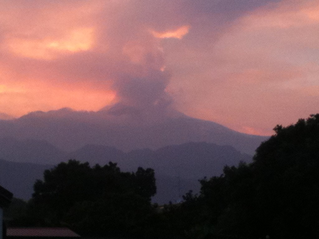 Mount Etna, the volcano visible from the Theological Academy