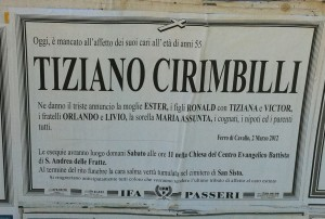 Tiziano's Death Notice