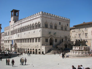 Perugia Medieval City Hall and Square