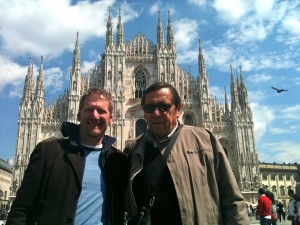 Duomo of Milan with Claudio