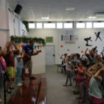 Children worshiping at VBS