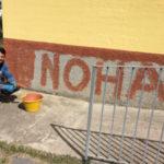 Painting church wall