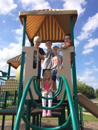 Cousins at the park